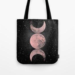 Pink Moon Symbol Tote Bag
