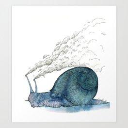 Escargot fumant Art Print