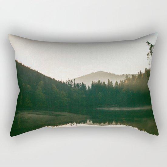 Morning lake Rectangular Pillow
