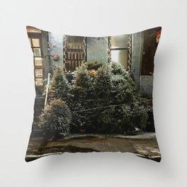 Bushwick Snow 2017 Throw Pillow