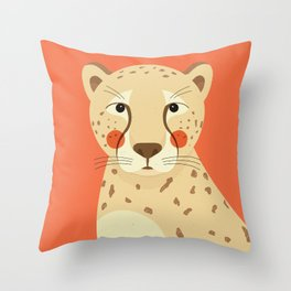 Cheetah, Animal Portrait Throw Pillow
