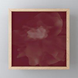 Red peony Framed Mini Art Print