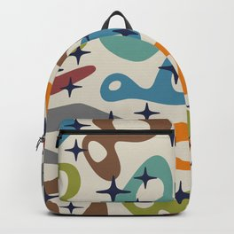 Retro Mid Century Modern Abstract Composition 926 Backpack