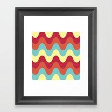 melting colors pattern Framed Art Print