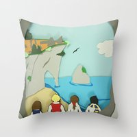 narnia Throw Pillows featuring Ruins in Narnia? by Deer Heart Sly Fox