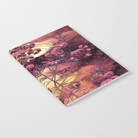pink Christmas landscape Notebook
