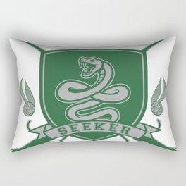 Green Snake Seeker Rectangular Pillow