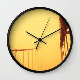Golden - Golden Gate Bridge Wall Clock
