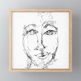 Doodle Face 16 by Kathy Morton Stanion Framed Mini Art Print