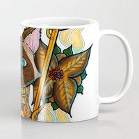 lantern Mugs featuring Cat Lantern by Mareve Design