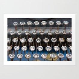 Paris old typewriter Art Print