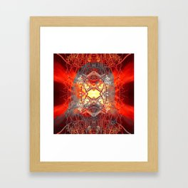 Spontaneous human combustion Framed Art Print