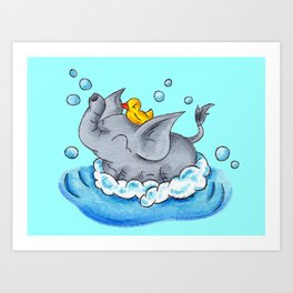 Bubble Bath Buddy Art Print