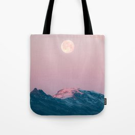 Moon and the Mountains – Landscape Photography Tote Bag