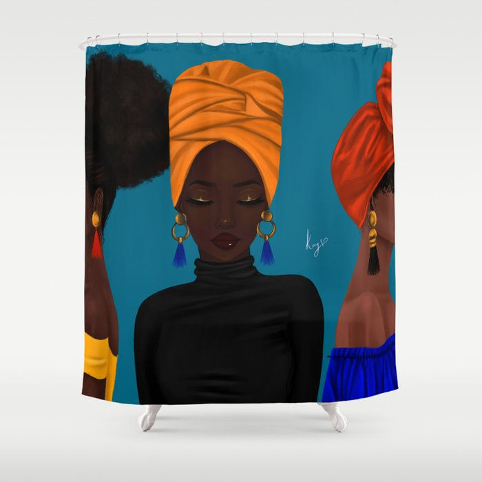 Afrocentric Shower Curtain By Princesskay