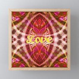 Tribal Love Geometry (Pinks) Framed Mini Art Print