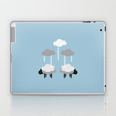 Wooly weather - Sheep Rain Clouds Laptop & iPad Skin