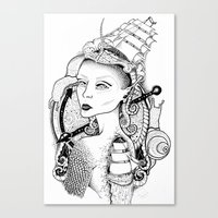 sailor Canvas Prints featuring SAILOR by • PASXALY •