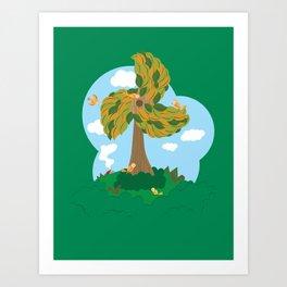 Fan Tree Art Print