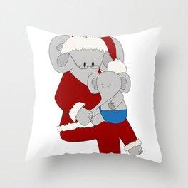 Elphie & Santa Throw Pillow