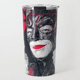 Cowl Girl Design (white) by Guillaume Morellec  Travel Mug