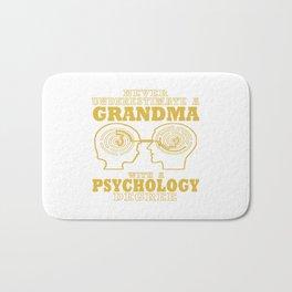 Psychology Grandma Bath Mat