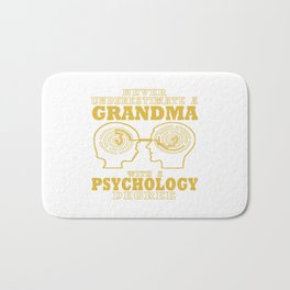 Psychology Grandma Bath Mat