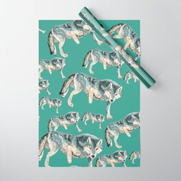 Totem Polar wolf Wrapping Paper