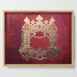 Ink Stained Crimson Book Serving Tray