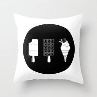 ice cream Throw Pillows featuring ice-cream  by Li9z