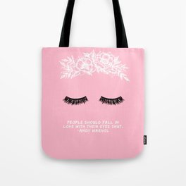 Love with Eyes Shut Tote Bag