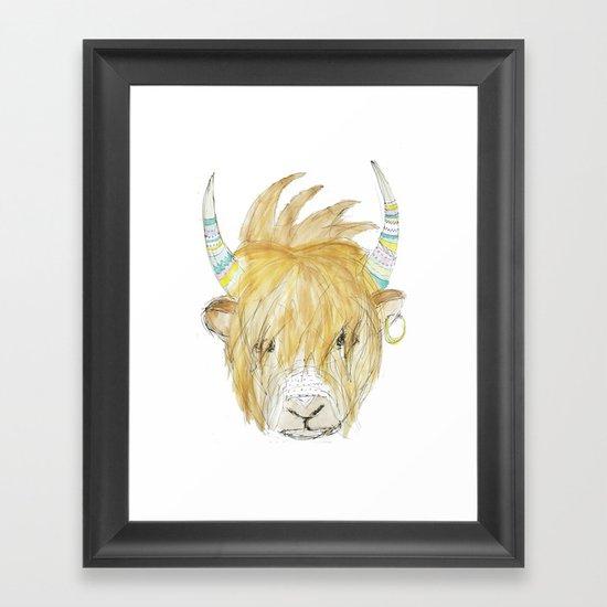 Yakety Yak Striped Illustration  Framed Art Print