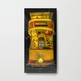 Old Glasgow Tram Metal Print