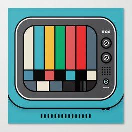 blue tv Canvas Print