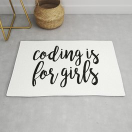 Coding is for Girls Rug
