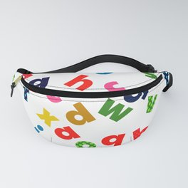 colourful alphabet Fanny Pack