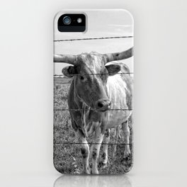 Longhorn Cows iPhone Case