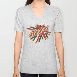 Funny British Slang Gift for Anglophiles : Blinding Unisex V-Neck