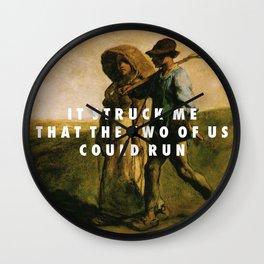 Run to Work Wall Clock