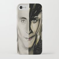 tom hiddleston iPhone & iPod Cases featuring Tom Hiddleston by Goolpia