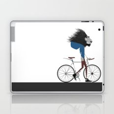 Hipster Lion and his Bicycle Laptop & iPad Skin