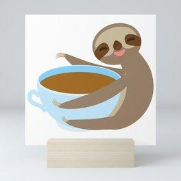 sloth & coffee 2 Mini Art Print