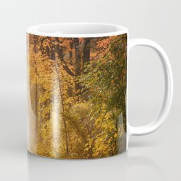 Autumn Fall Forest Path -  Nature Landscape Photography Coffee Mug
