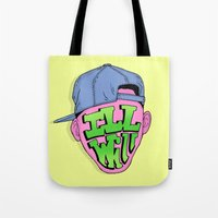 fresh prince Tote Bags featuring Fresh Prince of Bel Air by shoooes