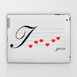 Music of love Laptop & iPad Skin