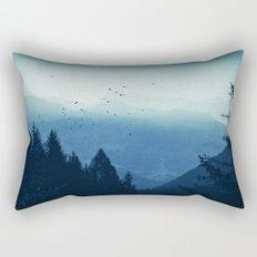 Blue Valmalenco - Alps at sunrise Rectangular Pillow
