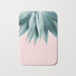 Agave fringe - blush Bath Mat