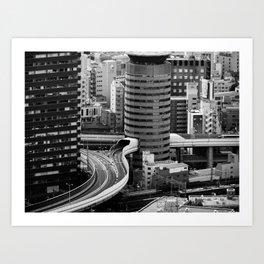 Not so little Osaka Art Print