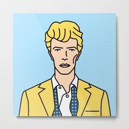David Bowie – Serious Moonlight Tour Metal Print