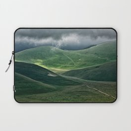 The hills of Castelluccio during a thunderstorm Laptop Sleeve